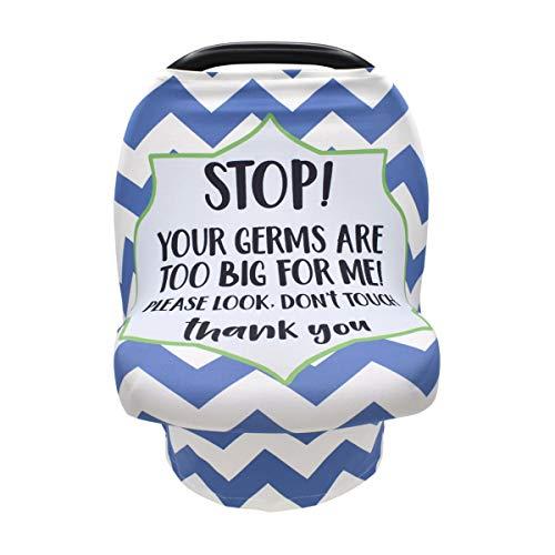 BigBig Style Dont Touch Baby Buggy Stillbezug Neugeborene Atmungsaktiv Autositz Baldachin Stretchbezug blau