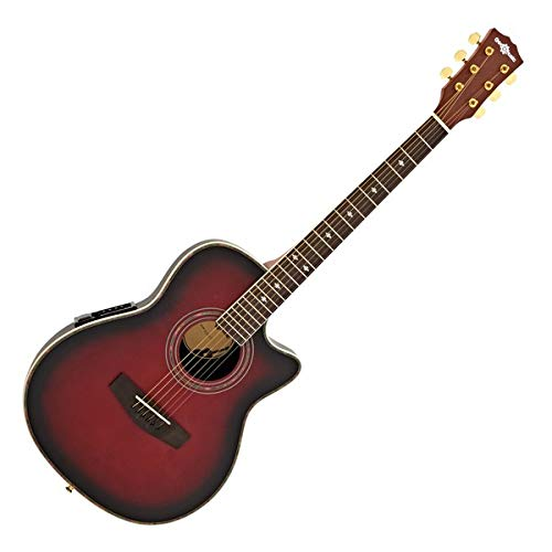 Roundback-Elektroakustik-Gitarre von Gear4music Red Burst