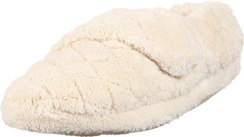 Acorn womens Acorn Women's Spa Wrap slippers, Natural, 6.5-7.5 US