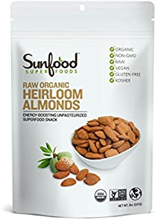 Sunfood Almonds, Shelled, 8 Ounces, Organic, Raw