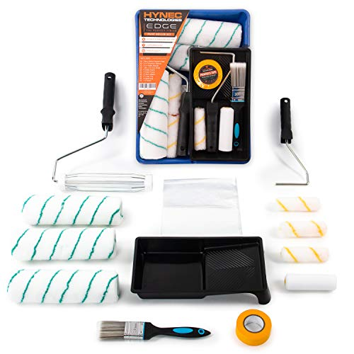 Ultimate Paint Roller Set - Paint Roller, Paint Brush, Paint Tray, Mini Rollers, Paint Sleeves and Paint...
