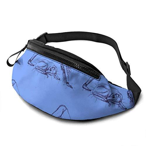 Harla Unisex Casual Waist Bag DownwardDog YogaWithASighthoundInTheHous Orig ed Fanny Pack Money Bum Bag with Adjustable Belt for Running Sports Climbing Travel
