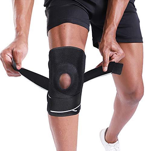BERTER Knee Brace Support for Relieves Meniscus Tear Knee Pain ACL MCL Arthritis, Men Women Open Patella Knee Pad for Running Basketball