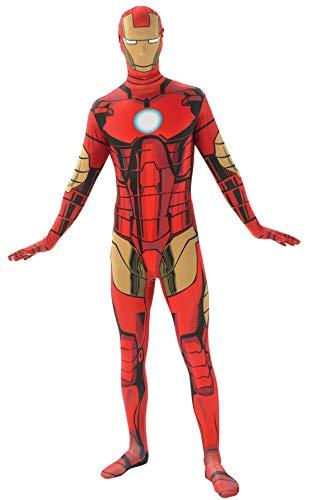 Rubie's mens Marvel 2nd Skin Iron Man Costume Body Suit, Iron Man, Large US