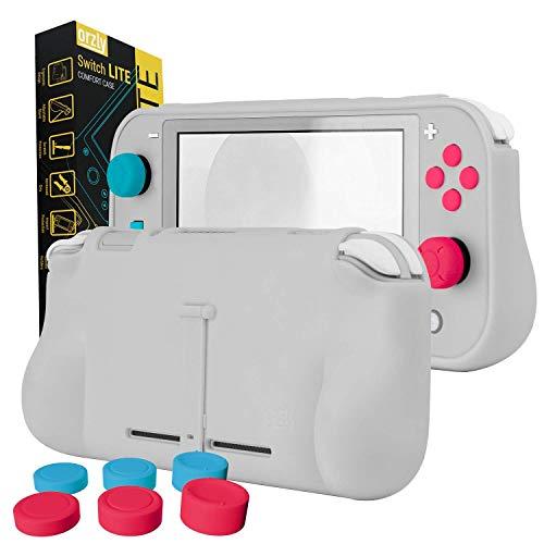 Funda para la Nintendo Switch Lite – Comfort Grip Case, Carcasa protectora con puños de mano rellenos integrados para la parte posterior de la consola Switch Lite, Con soporte plegable - Z&Z Edition