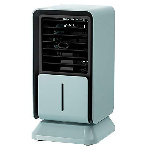 DSMGLRBGZ Ventilador Purificador Aire Pequeño Portatil USB Rociar para Laptop Pc Camper Coche Cámping Habitacion Carpa,Azul