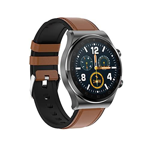 Reloj Inteligente con Llamada, Bluetooth 5.0, Rastreador De Ejercicios con Pantalla Táctil Completa De 1.3 Pulgadas, Modo Multideportivo, Podómetro Impermeable IP67, Reproductor De Música