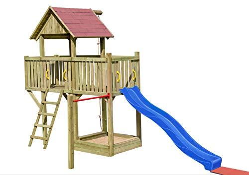 Gartenpirat Spielturm Prinzessin mit Rutsche und Sandkasten