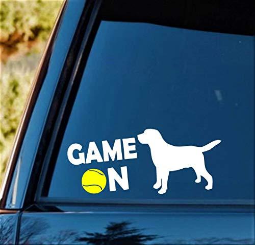 Celycasy G1067 Aufkleber für Labrador, Tennisball, Labor, Mütter, Hund
