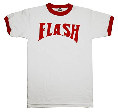 Queen Flash Gordon Red and White Ringer Tee (as worn by Freddie), S to XXL