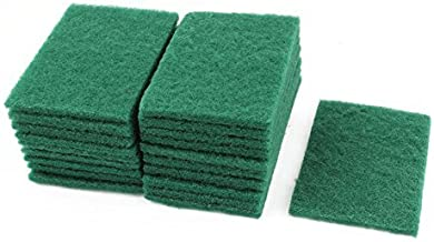 SHOMEX Home Kitchen Bowl Dish Wash Clean Scrub Sponge Cleaning Pads (Green) -10 Pieces