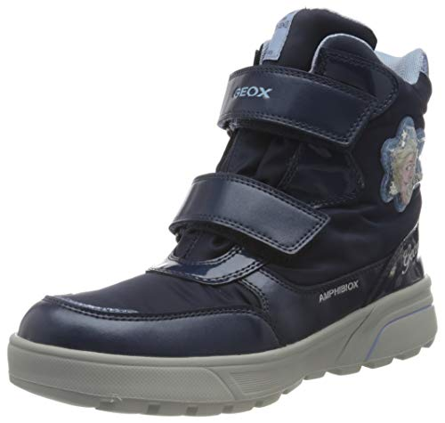 Geox J SVEGGEN Girl B ABX, Snow Boot, Blue (Navy/Sky), 36 EU