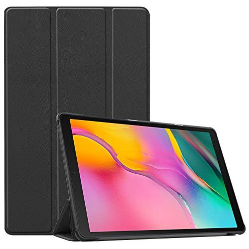 INSOLKIDON Compatible con Funda Samsung Galaxy Tab A2 10.5 2020 Case Protector Cáscara Completo Proteccion Billetera Paquete de la Tarjeta Función de Stand Flip Leather Case (Negro)