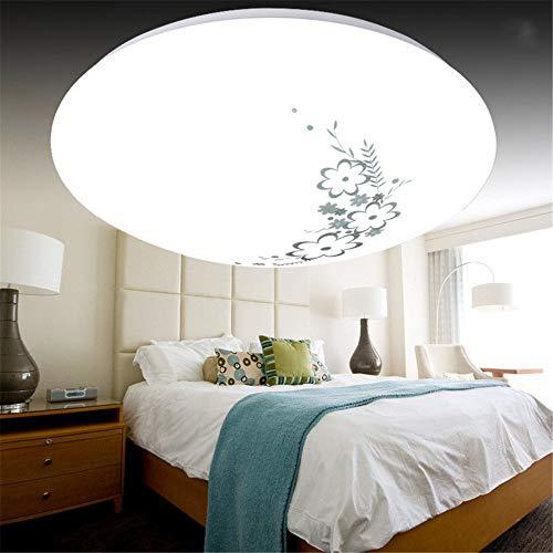 Led deckenleuchte moderne minimalistische wohnzimmer lampe runde led schlafzimmer esszimmer lampe balkon gang engineering lampe tee blume abschnitt 50 cm weißes licht 48 watt
