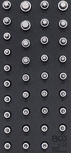 BGS 4120   Werkstattwageneinlage 1/3: Bit-Einsatz-Satz   verschieden Profile   36-tlg