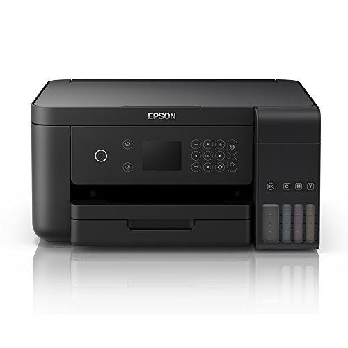 Epson L6160 Multi-function Wireless Color Printer (Black, Ink Bottle) Multi-function Monochrome Printer(Black)