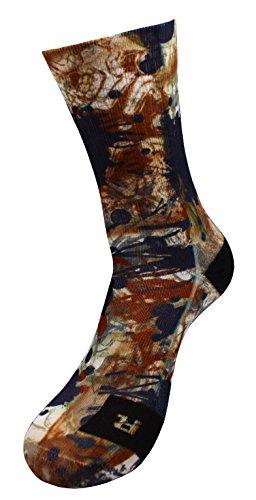 Blaue Hügel Spritzen Socken mit Eigenem Handgefertigte Motiv Design 3D Druck Socken für Basketball Fitness Volleyball Tennis Golf Outdoor Atmungsaktiv Coolmax Sportsocken für Höhe Leistung (35-38)