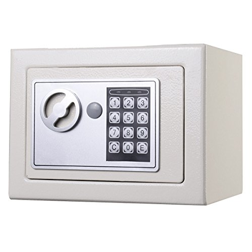 Giantex Durable Digital Electronic Safe Box Keypad Lock Home Office Hotel Gun (White)