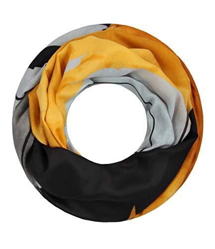 Majea Damen Loop Schal viele Farben tolle Muster Schlauchschal Halstücher (schwarz 26)