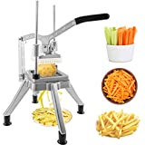 Happybuy Commercial Vegetable Fruit Chopper 1/2″ Blade Heavy Duty Professional Food Dicer Kattex French Fry Cutter Onion Slicer Stainless Steel for Tomato Peppers Potato Mushroom