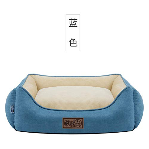 Cama Perro Gato Pequeño Cama Mascota Felpa Sofa Suave Cachorro Animales Domésticos Invierno, Cómoda y Lavable -Azul_S-50 * 50 * 20