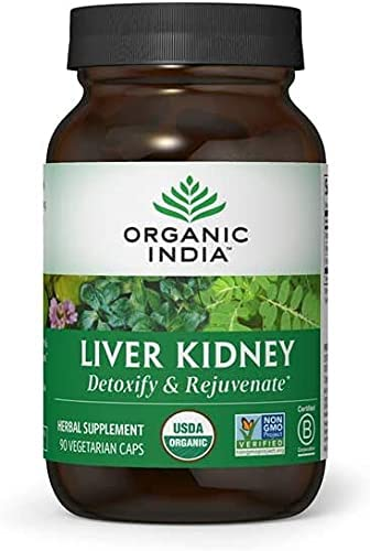Organic India Free shipping New Liver High material Kidney Herbal - Supplement Rejuve Detoxify