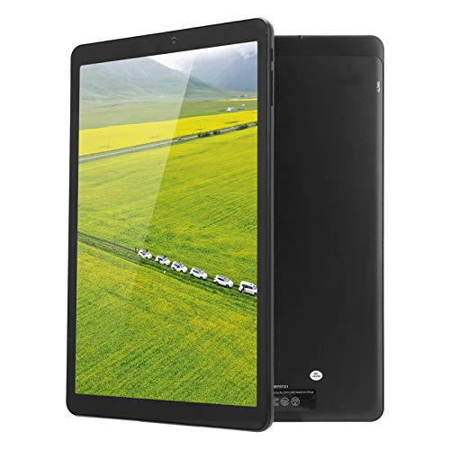 PUSOKEI 10,5-Zoll-Tablet, Android 10,6 GB RAM 128 GB ROM, 8-Core-CPU, 1920 × 1200, kapazitiver Touchscreen, 4G LTE, WLAN, Bluetooth, integrierter 7000-mAh-Akku(Schwarz)
