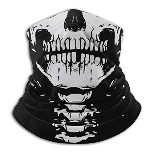Lawenp Scary Skull Microfiber Neck Warmer Windproof Scarf Dust Face Clothing UV Face Scarf