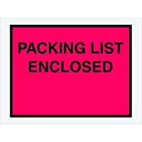 Partners Brand PPL413 Packing List Enclosed Envelopes Full Face 4 1/2 x 6 Red (Pack of 1000) [並行輸入品]