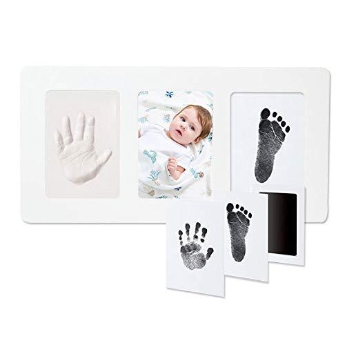 EIU Baby Handabdruck & Fußabdruck Kit Art Memorial Fotorahmen - Babyparty Geschenke Für Taufregister - Denkwürdiges Andenken Für Raum Wand & Tischdekoration