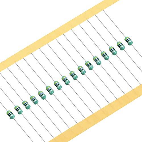 sourcing map 100 Stück DIP Induktivitätsschleifen Farbrad Induktivität Axial RF Drosselspule 0307 47uH 1/8W
