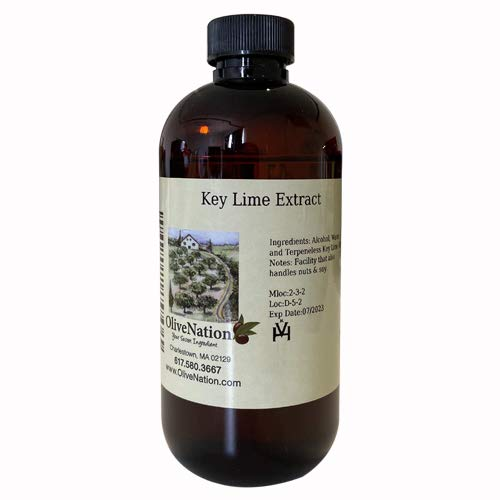 OliveNation Pure Key Lime Extract - 4 ounces - Perfect for candies, key lime pie, cookies, salad dressings and marinades - baking-extracts-and-flavorings