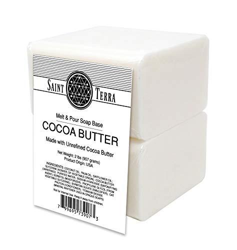 Saint Terra - Cocoa Butter Melt and Pour Soap Base, 2 Pounds