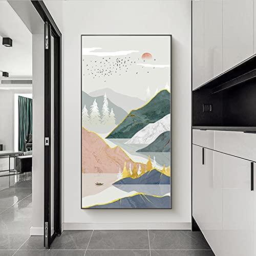 Abstracte Landschap Grote Foto's voor Woonkamer Canvas Zon Muur Kunst Boho Herten Foto's voor Hal Kantoor Muur Decor…