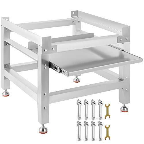 VEVOR Support pour Machine à Laver en Alliage d'aluminium Socle Machine à Laver Base pour Machine à Laver Stable Support pour Lave-Linge avec Plateau Socle Lave-Linge Sèche-Linge (1 Base 136KG)
