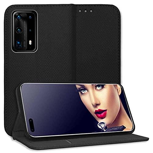 mtb more energy® Schutz-Tasche Bookstyle für Huawei P40 Pro Plus, P40 Pro+ (6.58'') - schwarz - Kunstleder - Klapp-Cover Hülle Wallet Hülle