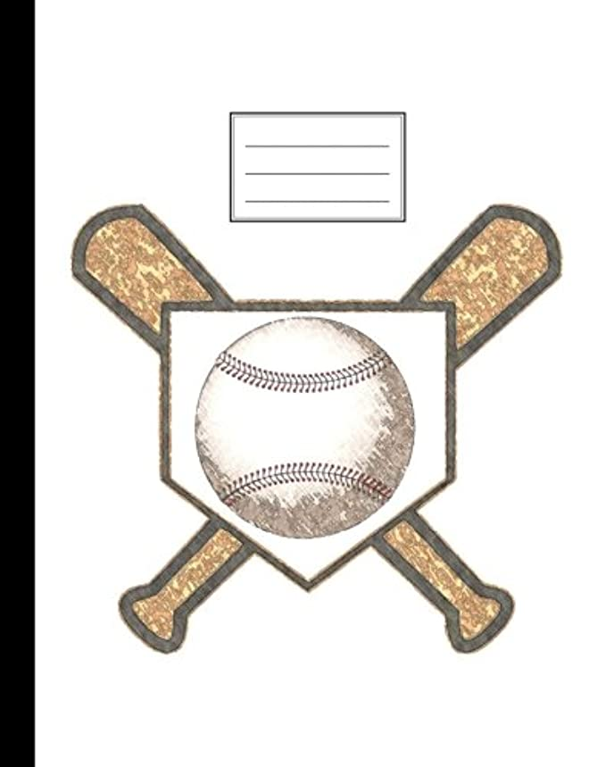 Baseball Composition Notebook: Wide Ruled, Sports Theme, Lined Journal, Softcover, 100 sheets/200 pages, 9 3/4