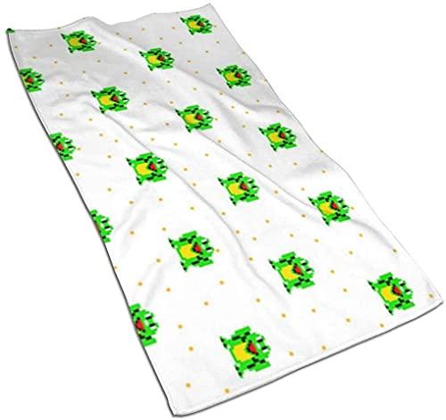 DJNGN Happy Frog Pixel Art Toallas de Cocina Paño de Plato Toalla de Mano Paños de Cocina Toalla de Plato Toallas de té Toallas Multiusos 27.5x15.7 Pulgadas