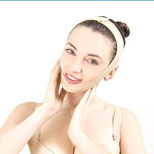 HJTLK Sangle Amincissante pour Le Visage, V-Face Artefact Lifting Mince Double Menton de Levage Anti-Rides Respirant Bandage de Sommeil Ceinture Lifting