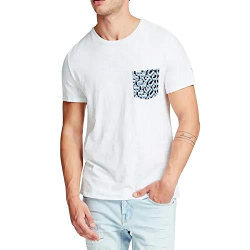 Guess Cn SS Printed Pocket Camiseta para Hombre