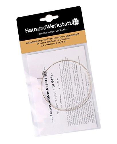 HUW24 hochsilberhaltiges Hartlot SL645 0,4 x 1000 mm (Silberlot 650°C Arbeitstemperatur seewasserfest)
