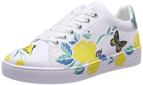 bugatti Damen 431291145959 Sneaker, Mehrfarbig (White/Yellow 2050), 39 EU