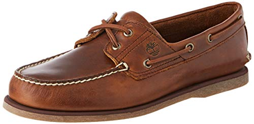 Timberland Classic 2 Eye, Scarpe da Barca Uomo, Marrone (MD Brown Full Grain), 42 EU