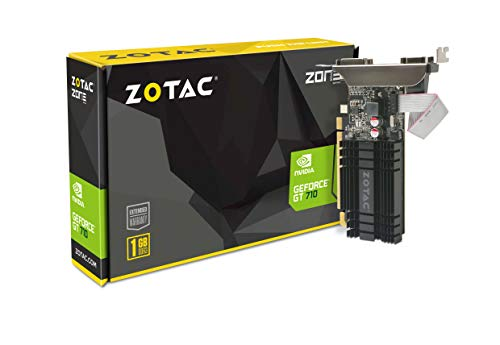 ZOTAC GeForce GT 710 1GB DDR3, 954 MHz, ZT-71301-20L DVI-D + HDMI + VGA, PCI-E 2.0, Scheda Video