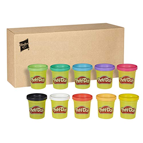 Play-Doh-Pack 10 Botes, color surtido, (Hasbro 29413F03)