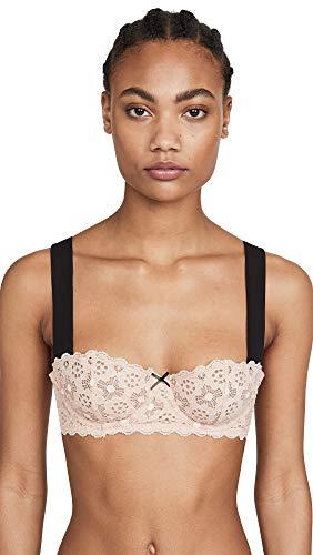 Fleur du Mal Women's Crochet Lace Balconette Bra, Blush, Pink, 32B