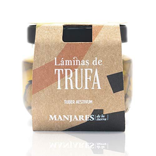 Láminas de Trufa Negra Tuber Aestiuvum en Aceite de Oliva Virgen Extra del Bajo Aragón, Teruel. Producto de España...