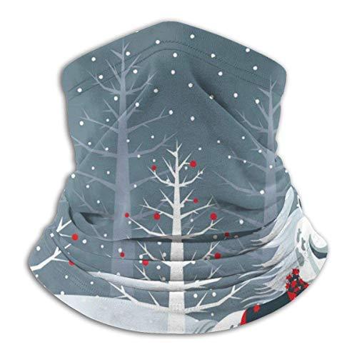 XCVD Bandanas Half Face Christmas Horse Microfiber Neck Warmer para exteriores, deportes