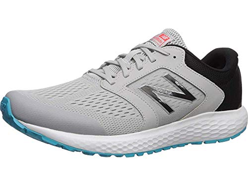 new balance Men's 520v5 Cushioning Running Shoe, Grey/Blue/Silver, 10.5 D US