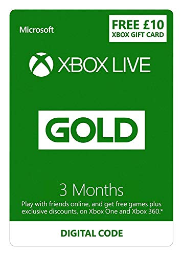 Xbox Live 3 Month Gold Membership + £10 FREE Credit   Xbox Live Download Code